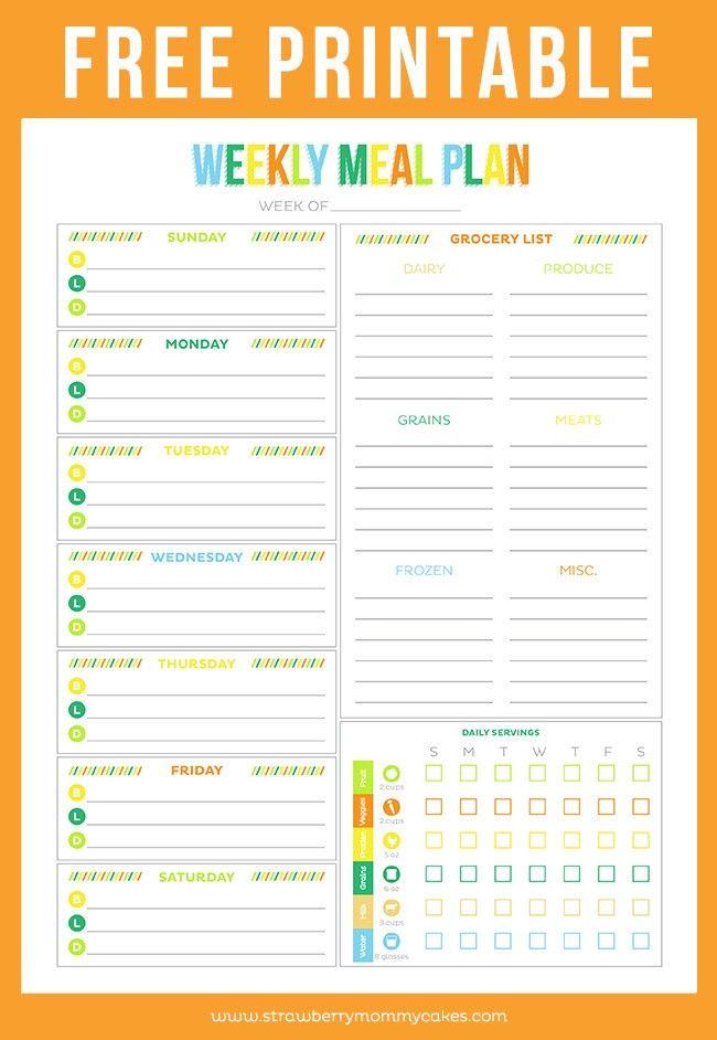 FREE Printable Weekly Meal Planner - Printable Crush