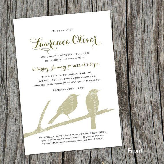 Modern Mourning Cards for Memorial Funeral by FoxDigitalDesign ...