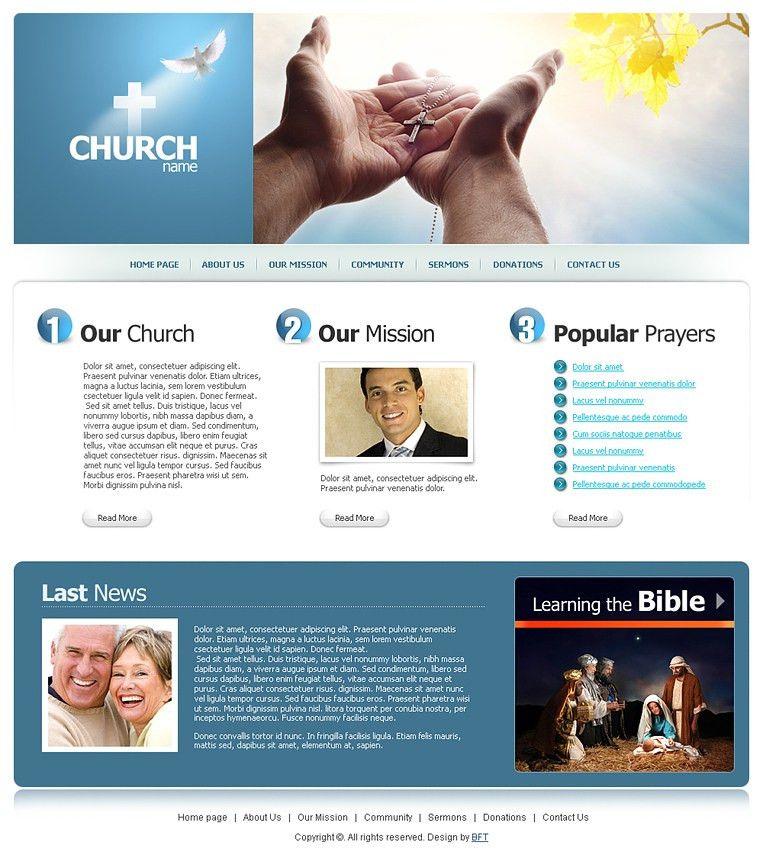 Free Religious Templates, Religious Web Template
