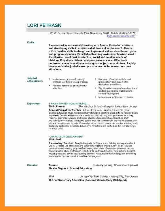 8+ biodata for teachers post | scholarship letter