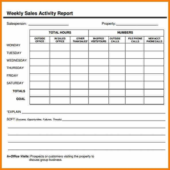 4+ weekly activity report format excel | employee-timesheet