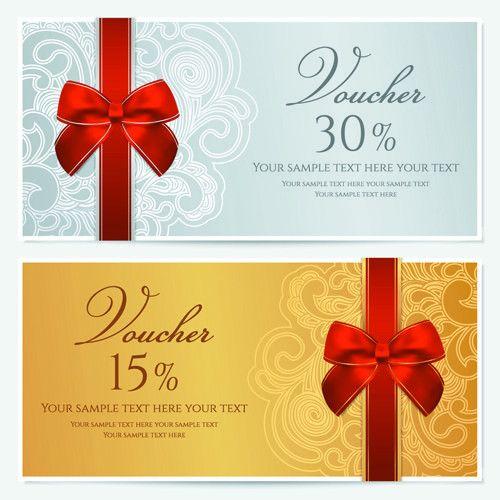 Exquisite vouchers template design vector set 01 - Vector Card ...