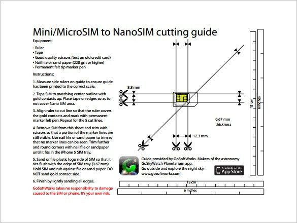 Micro Sim Card Template – 7+ Free Printable Word, PDF, PSD, EPS ...