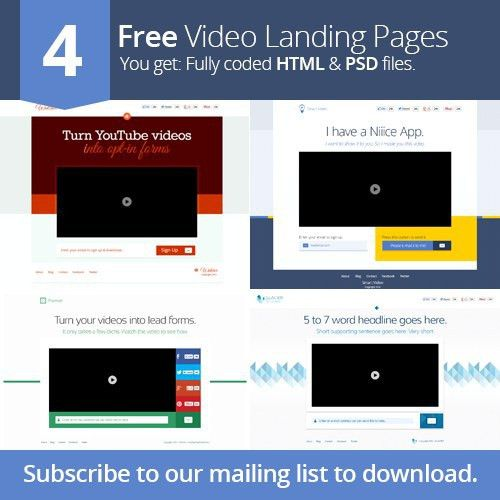 40 Beautiful Landing Page Templates