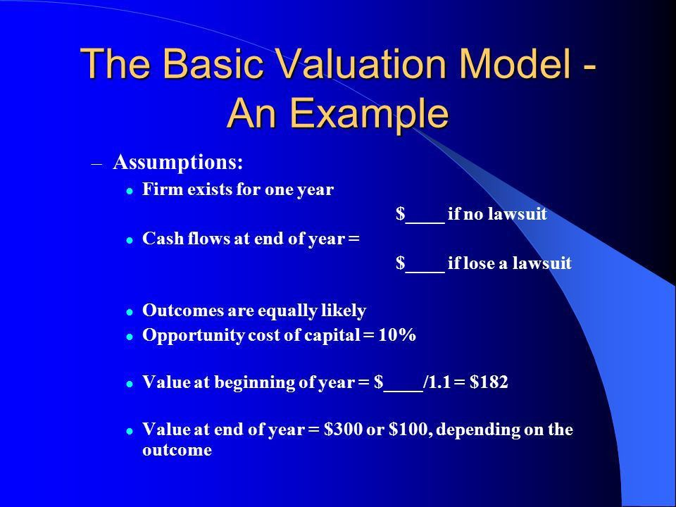 Chapter Outline 9.1Principals of Business Valuation Valuation ...