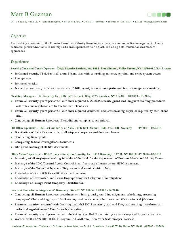 Resume & Cover Letter 2015 - HR