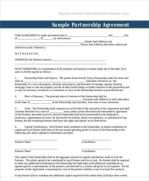 Business Agreement Sample