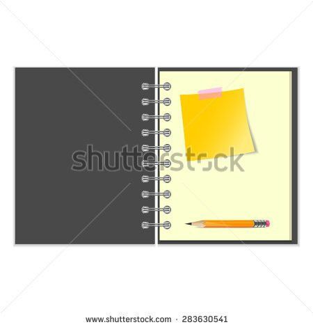 Yellow Notebook Paper Background Stock Vectors, Images & Vector ...