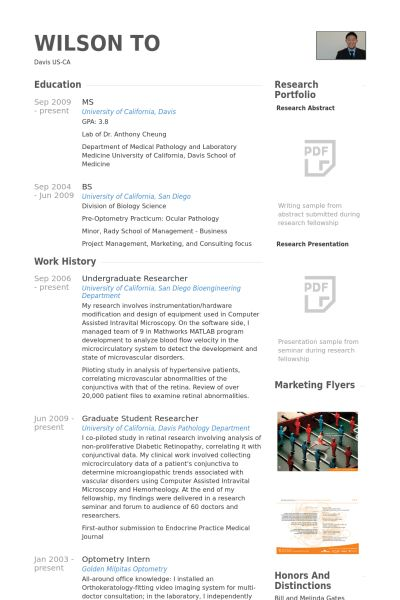 Undergraduate Researcher Resume samples - VisualCV resume samples ...