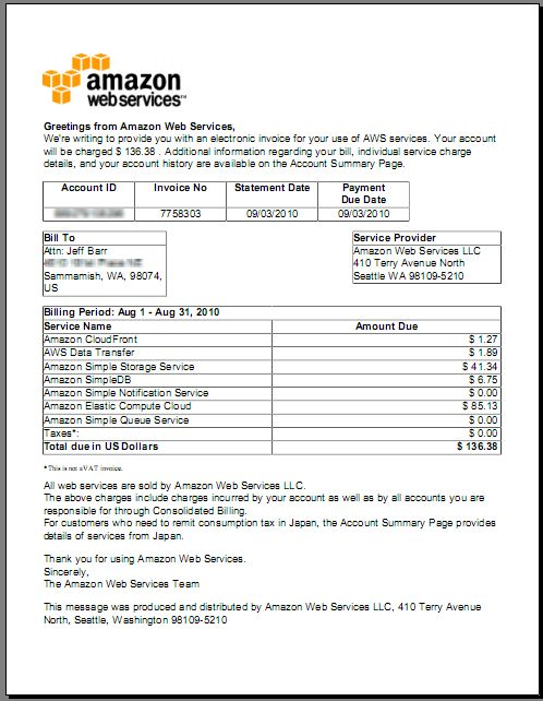 New: Download Invoices From Your AWS Account | AWS Blog