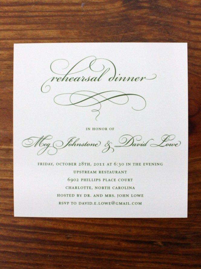 Formal Dinner Party Invitation Examples - Wedding Invitation Sample