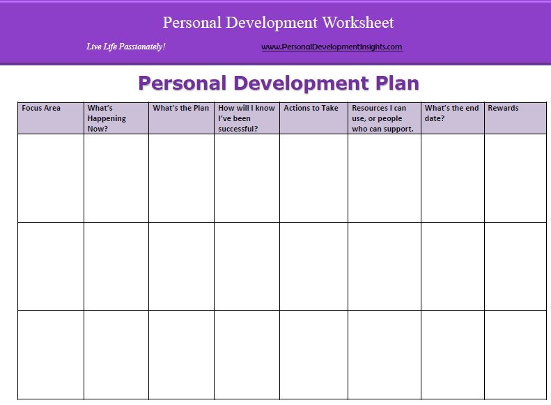 Personal development plan template | Mantras | Pinterest ...
