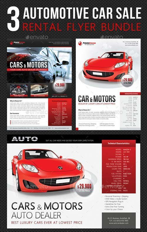 Flyer Templates - GraphicRiver 3 in 1 Automotive Car Sale Rental ...