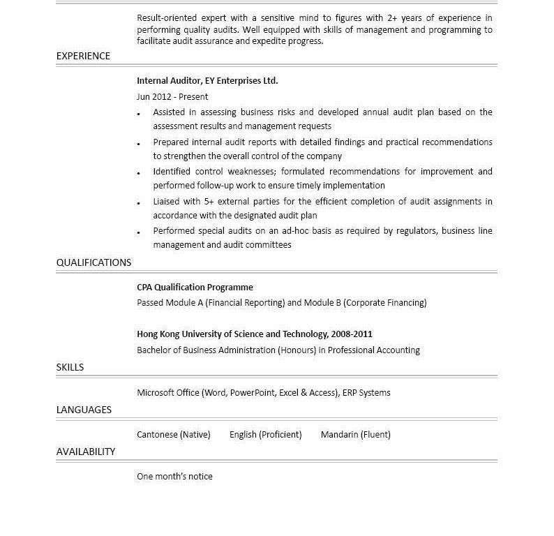 Winsome Ideas Internal Resume 10 Best Resume Format For Internal ...