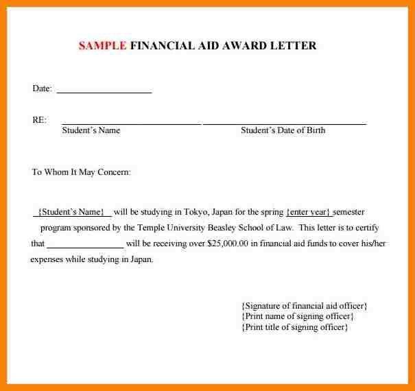 7+ scholarship award letter template | hr cover letter