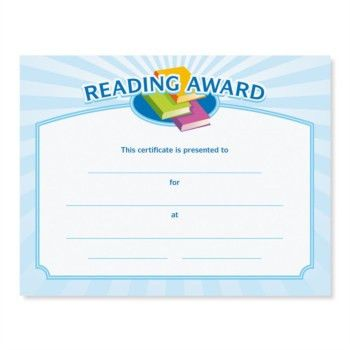 Reading Award Casual Certificates | PaperDirect