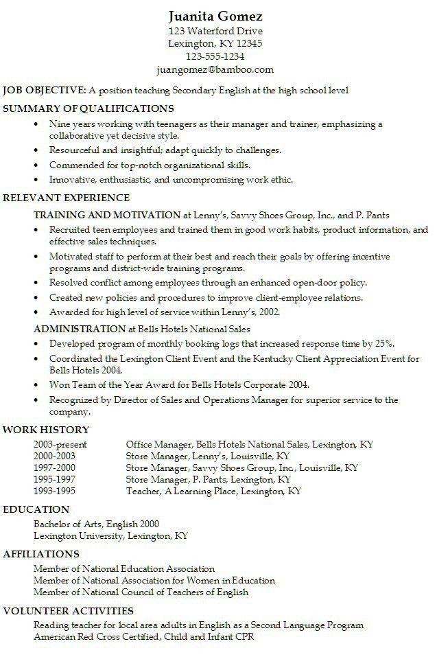 Joyous Sample Teen Resume 16 Resume For Teenagers - Resume Example