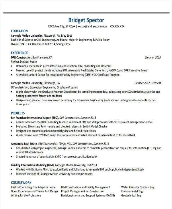 Facility Engineer Sample Resume 20 Facilities Cover Letter ...