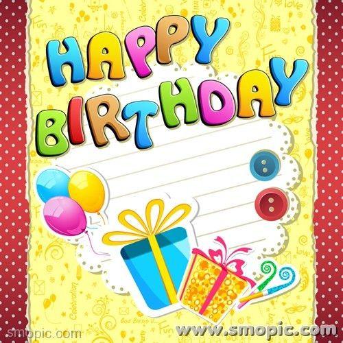 free cartoon happy birthday font greeting cards greeting card ...