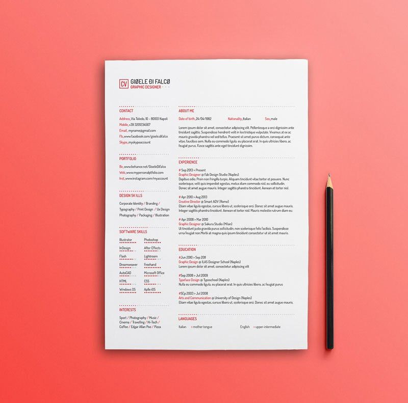 Best Free Clean Resume Templates in PSD, AI and Word Docx Format ...