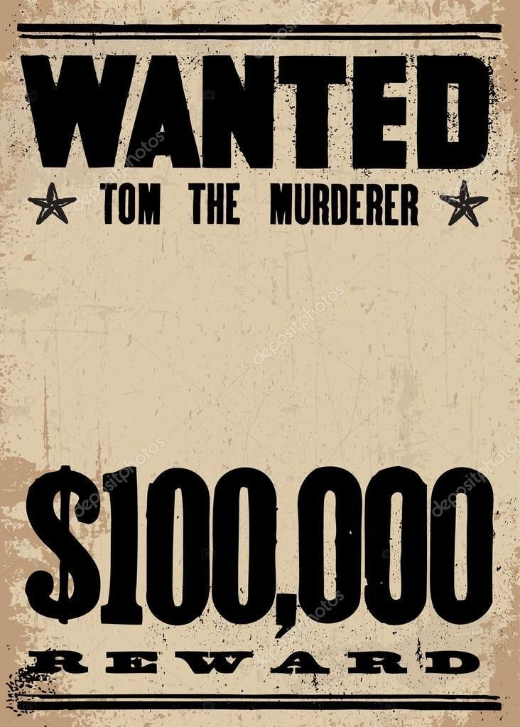 Vector Vintage Wanted Poster Template — Stock Vector © createfirst ...