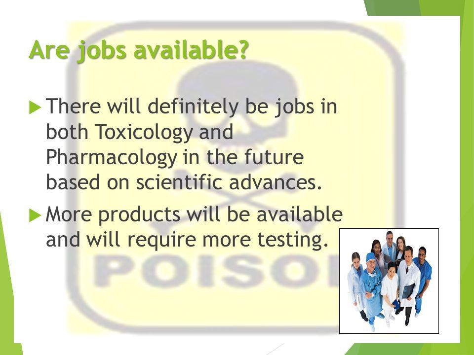Pharmacologist & Toxicologist College and Career Awareness. - ppt ...