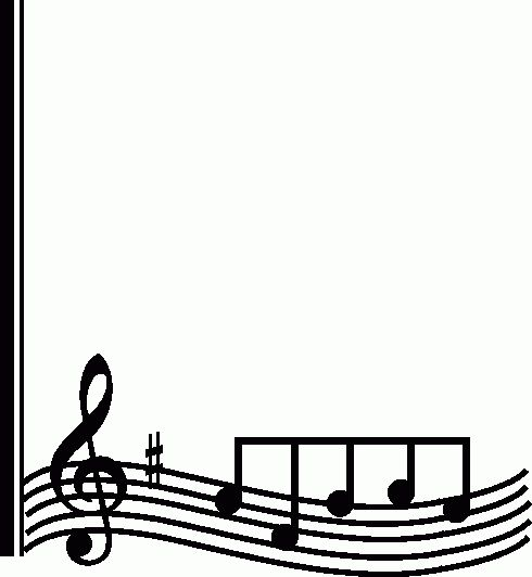 Music Note Border - Clipartion.com