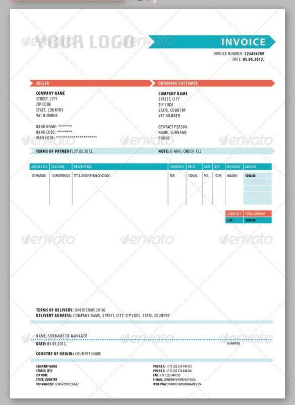 20+ Blank Invoice Templates | Free & Premium Templates