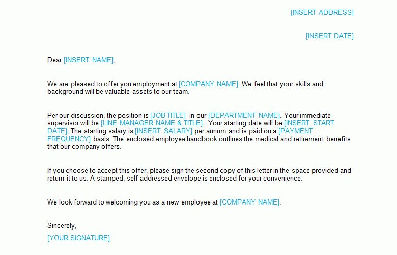 Job Offer Letter Template - Bizorb