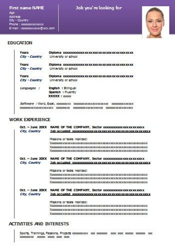 50 Resume Templates in Word | Download for Free