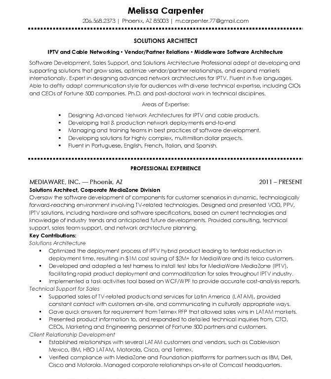 Software Architect Resume - Contegri.com