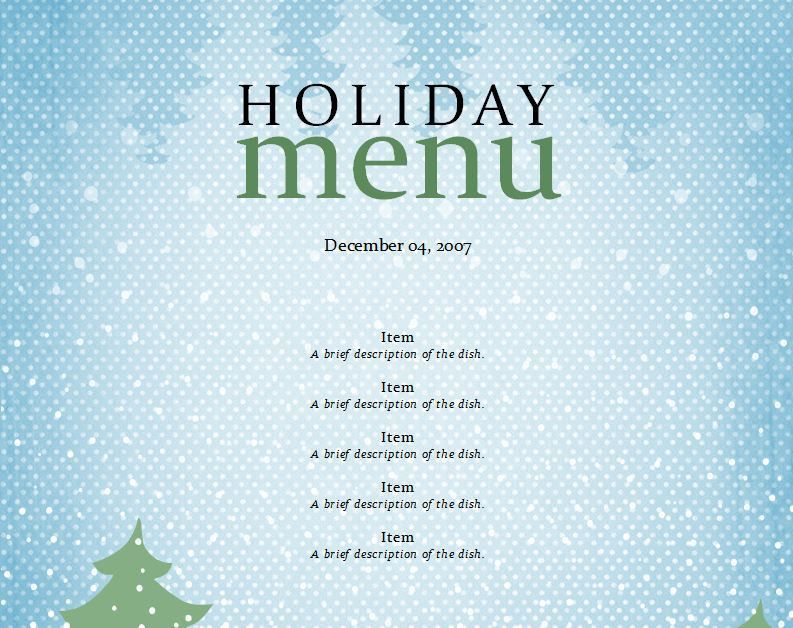 Christmas Menu Template - 32+ Free PSD, EPS, AI, Illustrator, Word ...