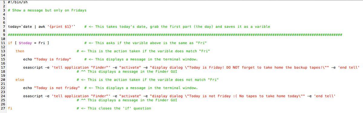 Bash Scripting: Examples > Amsys