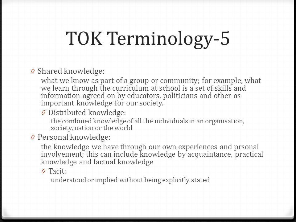 Intro to TOK World Gr11 W1. - ppt video online download