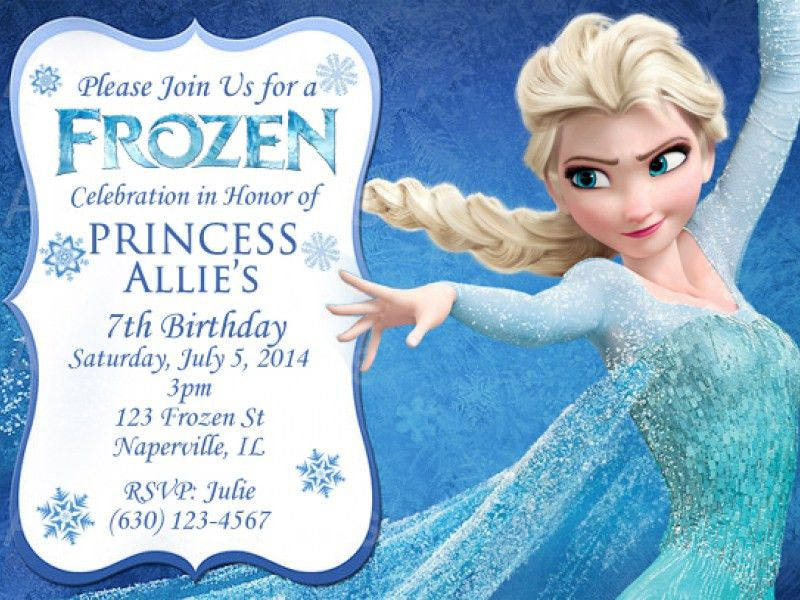 Personalized Frozen Birthday Invitations | christmanista.com