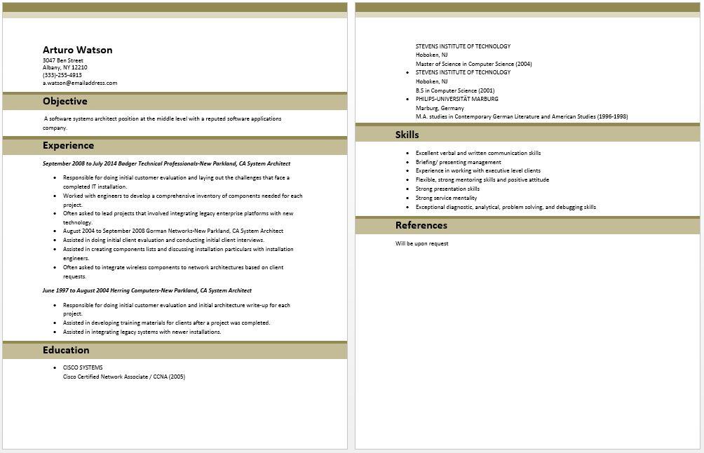 System Architect Resume | Architect Resume Samples | Pinterest ...