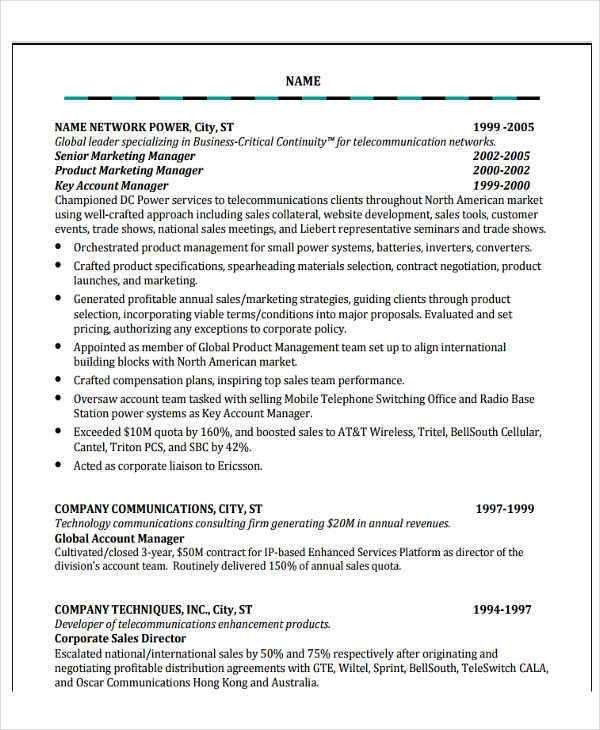 47+ Basic Sales Resume | Free & Premium Templates
