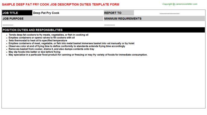job description of a prep cook