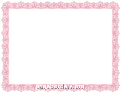 Pink Certificate Border: Clip Art, Page Border, and Vector Graphics