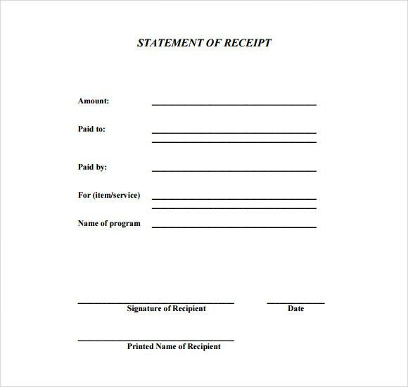 7+ General Receipt Templates   Free Samples , Examples , Format  Payment Received Format