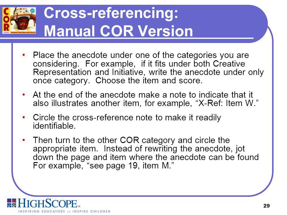 The HighScope COR. - ppt download