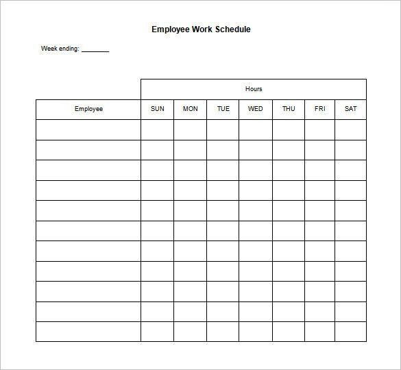 Daily Work Schedule Template – 12+ Free Word, Excel, PDF Format ...