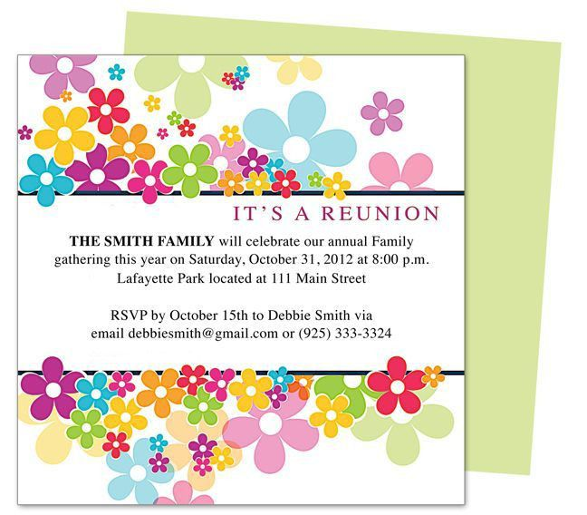 Reunion Invitation Templates. our roots free printable family ...