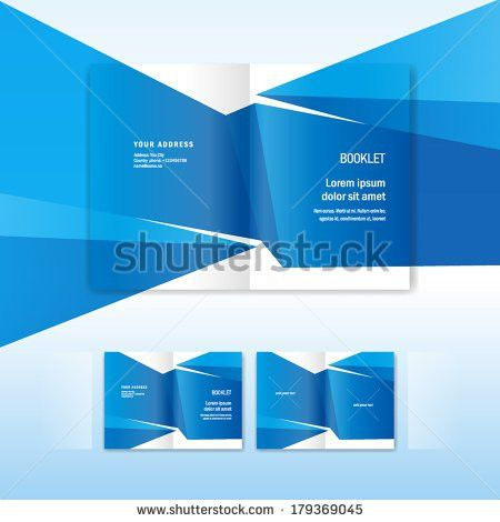 Brochure Design Template Booklet Abstract Form Stock Vector ...