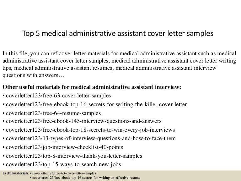 Top5medicaladministrativeassistantcoverlettersamples 150621002357 Lva1 App6891 Thumbnail 4?cbu003d
