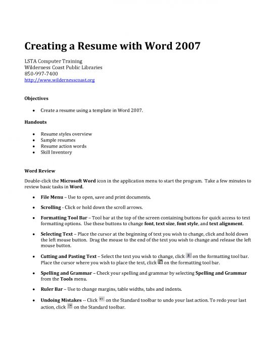 word template for resume 2010 free resume templates layouts word ...
