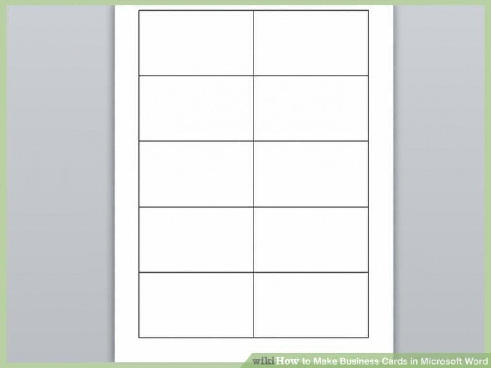 Blank Template For Business Cards
