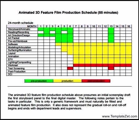 Film Production Schedule Template   TemplateZet