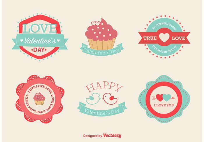 Love and Valentine Vector Labels - Download Free Vector Art, Stock ...