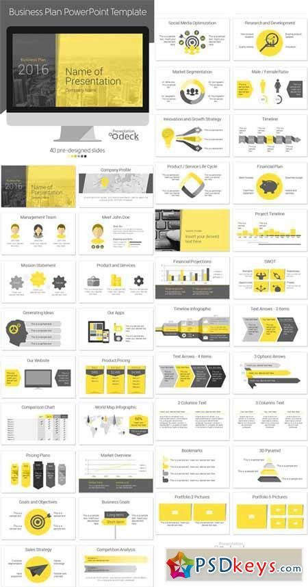 Business Plan PowerPoint Template 393333 » Free Download Photoshop ...